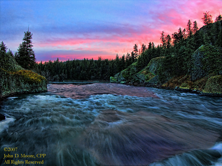 Fast moving waters,  Spokane River, Riverside State Park, Spokane, County, Washington