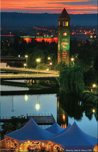 Spokane Night Scenes has been chosen for the image placement on the new Spokane Riverfront Park Map panels.