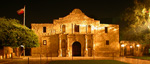 San Antonio, Texas.  A midnight look at the Alamo.
