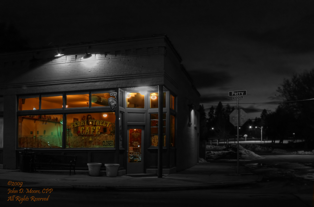 """Perry Street Cafe,"" South Perry business district,  Spokane Washington"