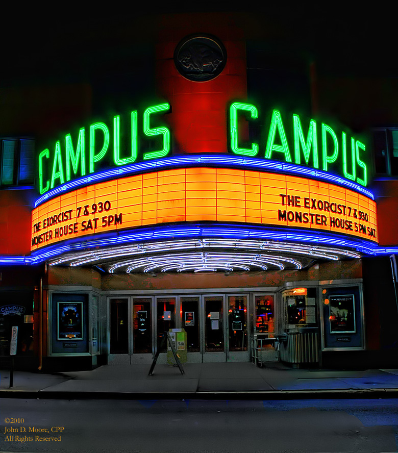 Lewisburg, Pennsylvania.  The Campus Theatre, Bucknell University