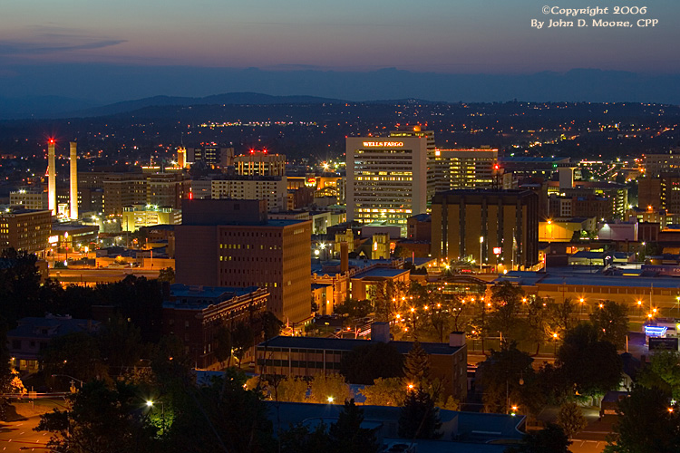 A view of downtown, Spokane, Washington.