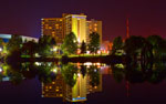 Spokane's Doubletree hotel, on the south bank of the Spokane river, Spokane,Washington