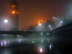 A foggy Riverfront Park, Spokane, Washington
