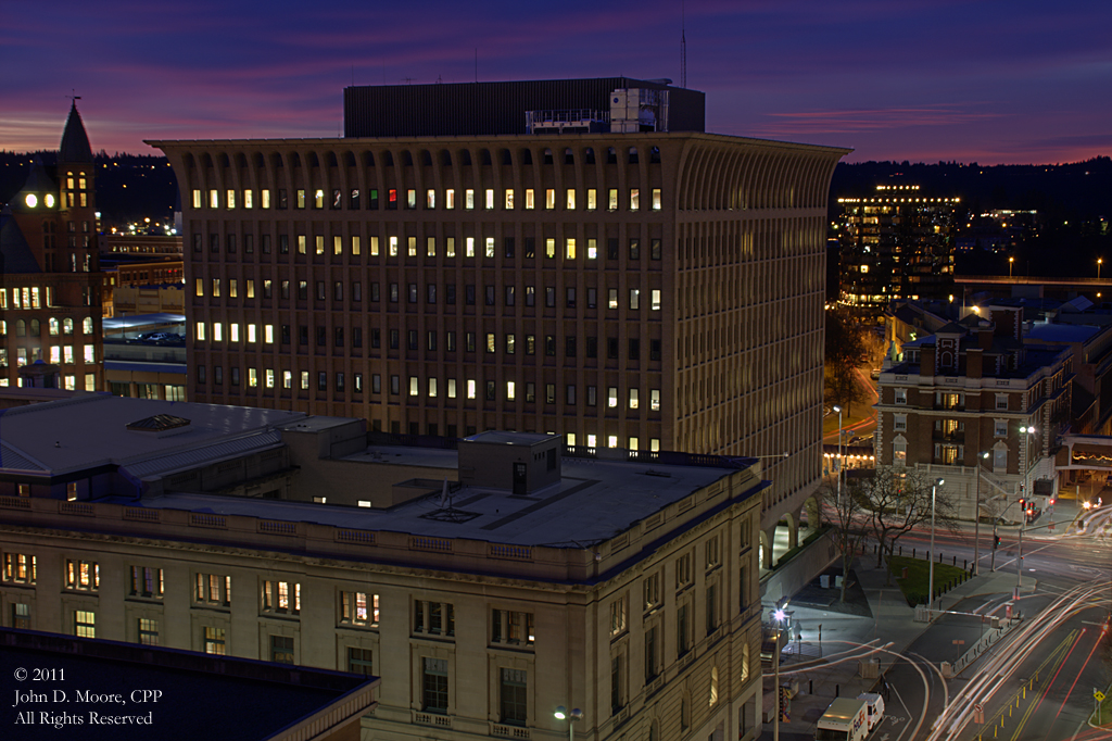 United States Post Office, Thomas Foley Federal building, and the Spokane Club