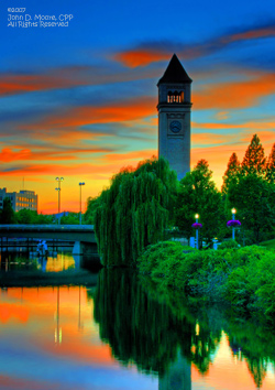 Spokane Night Scenes, Poster Art size 60 X 85t