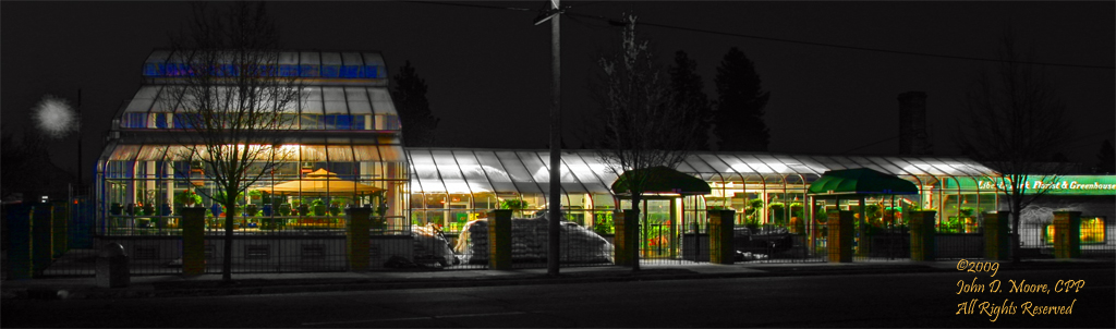 """Liberty Park Florist and Greenhouse,"" South Perry business district,  Spokane Washington"