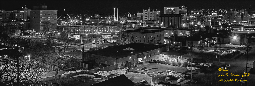 North by Northwest.  A view toward downtown Spokane.    Spokane, Washington