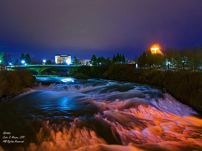 North river channel,  on the Spokane River, Spokane, Washington