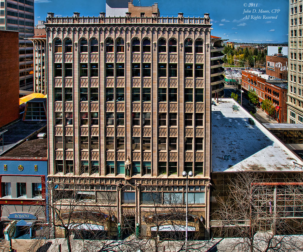 The Sherwood Building, in downtown Spokane, Washington.