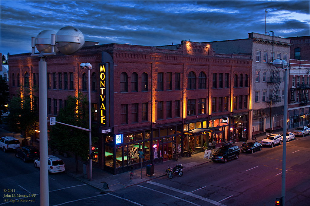 The Montvale Hotel, in downtown Spokane.  Spokane, Washington.