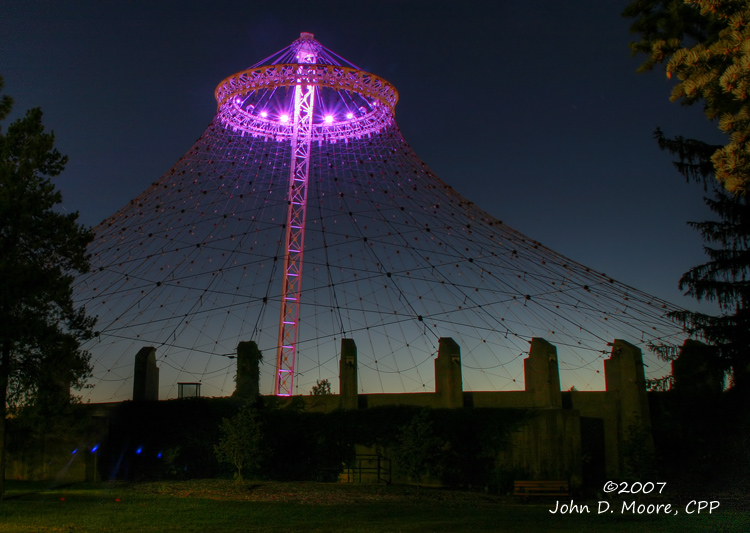 A  midevening look at a very recognizeable landmark in Riverfront Park.   Spokane, Washington