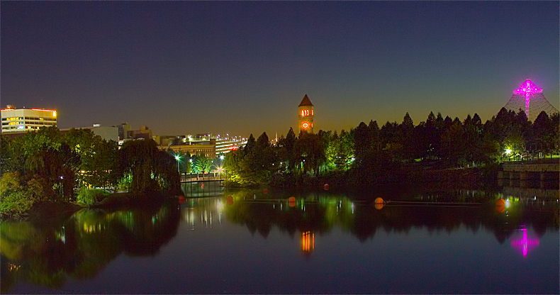 Spokane River, west view toward Riverfront Park