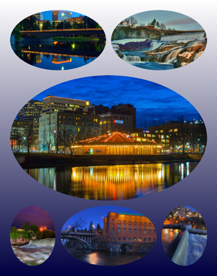 If you need assistance with any of the Spokane Night Scenes images, contact the Spokane office.