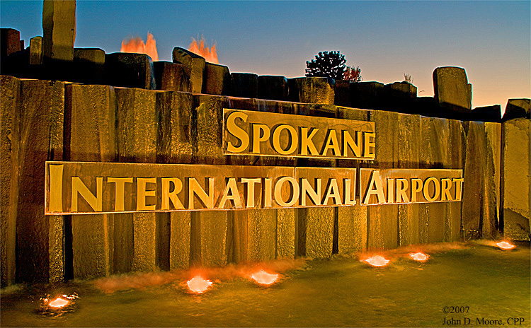 Welcome to the Spokane International Airport,  Spokane, County, Washington