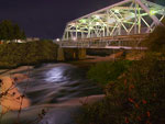 Howard street suspension bridge, over the Spokane river, Spokane, Washington