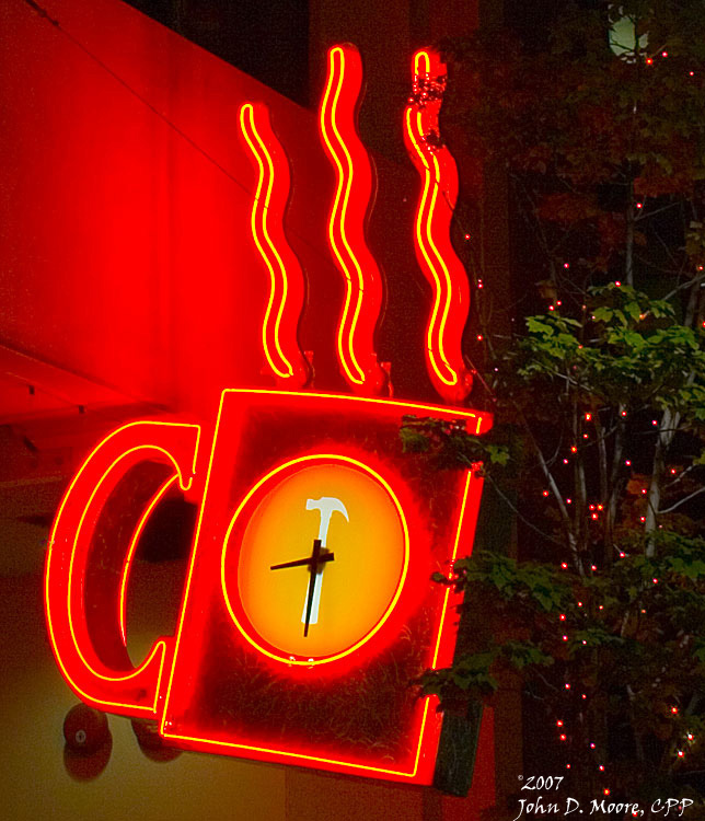 Thomas Hammer coffee shop, downtown Spokane, Washington