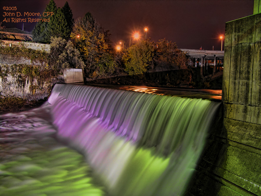 Spokane river falls, Spokane, Washington