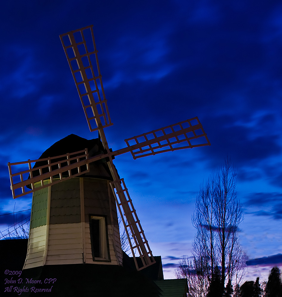 A windmill on Spokane's South Perry Street.  Spokane, Washington